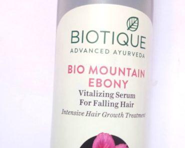 Biotique Mountain Ebony Vitalizing Serum For Falling Hair Review 1