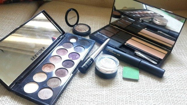 Gold and Green Smoky Eye Party Look Tutorial 3