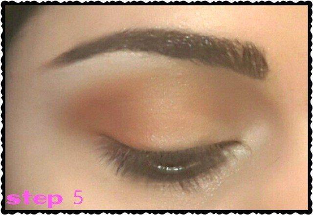 Daytime Soft Peachy Eye Makeup Look Tutorial 14