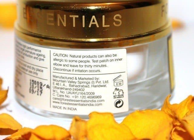 Forest Essentials Night Treatment Cream Jasmine & Patchouli Review 5
