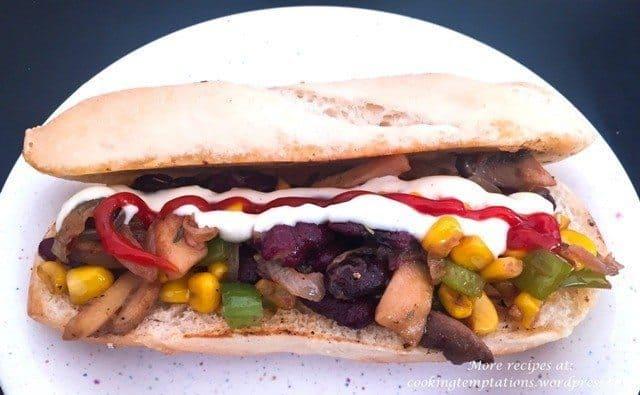 Mexican Veg Sandwich Recipe 2