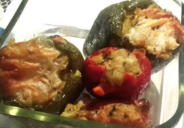 Stuffed Roasted Bell Peppers Recipe