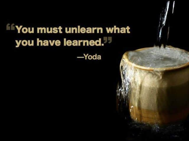 unlearn to learn something new 1