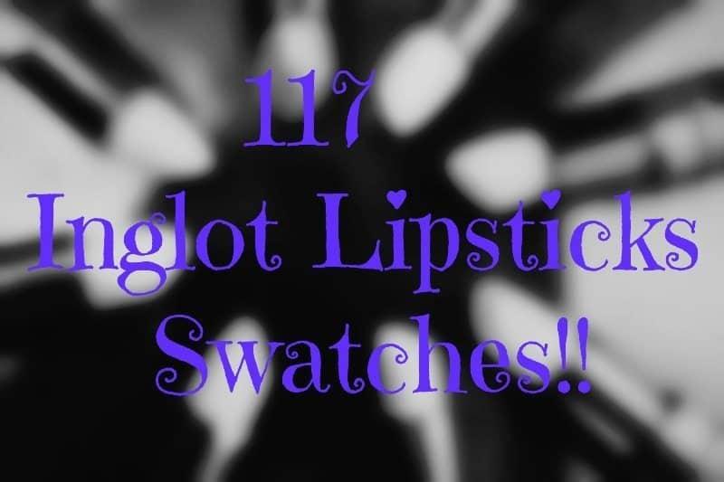 Inglot Lipstick swatches 27