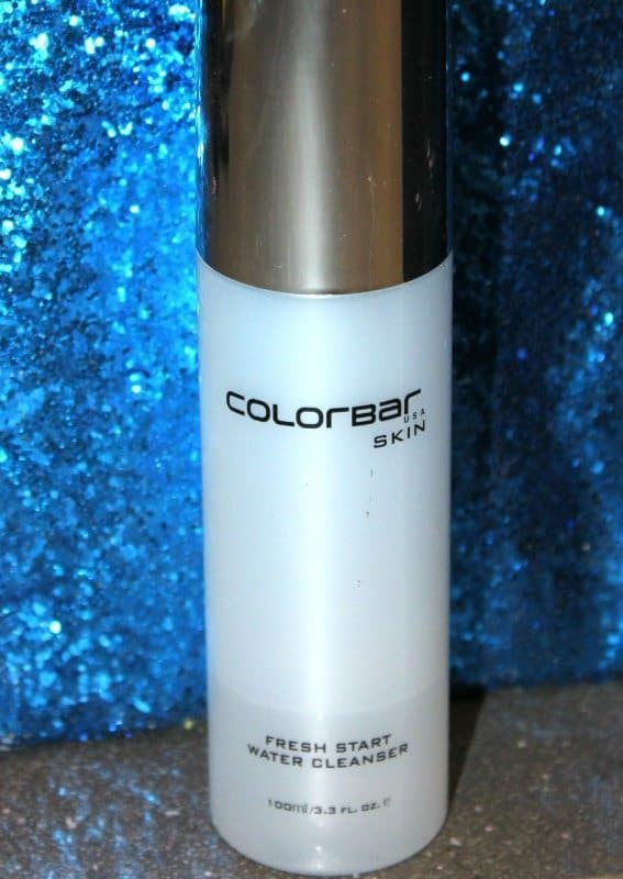 Colorbar fresh start water cleanser review
