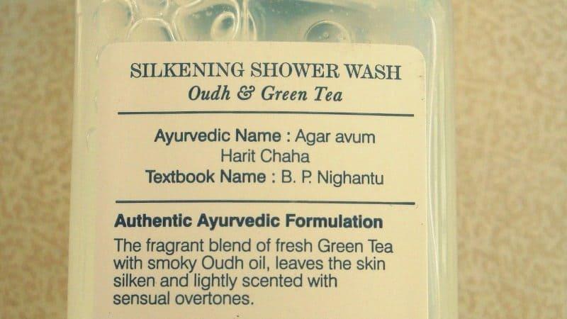 Forest essentials green tea oudh silkening shower wash review 4