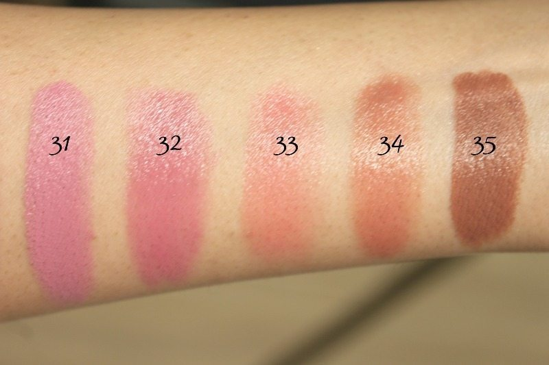 MAC Lipstick Swatches 11