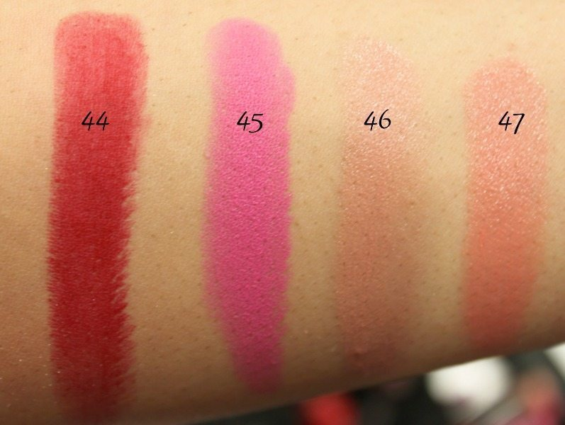 MAC Lipstick Swatches 14