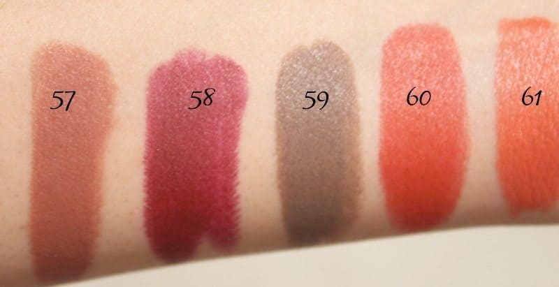 MAC Lipstick Swatches 16
