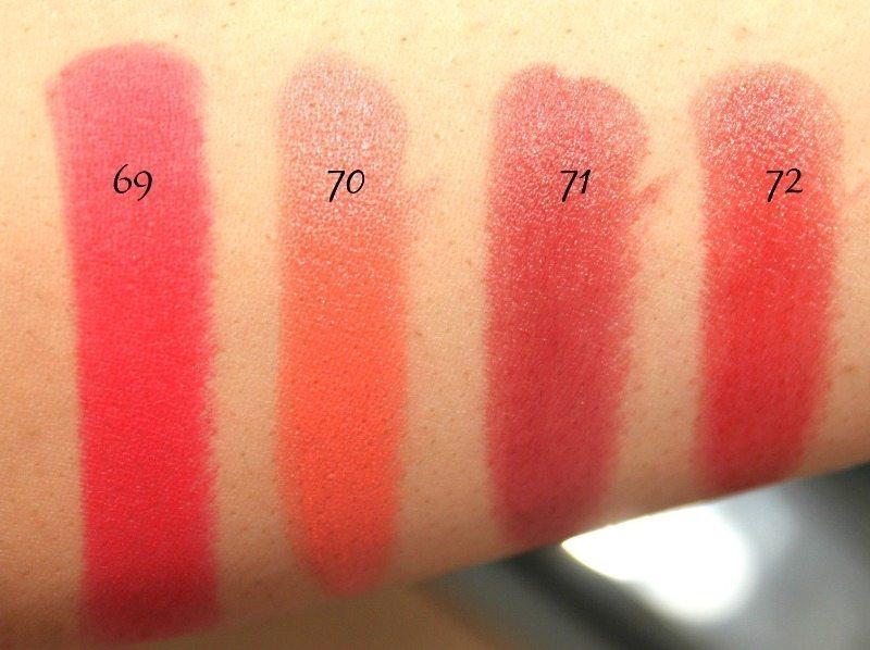MAC Lipstick Swatches 18