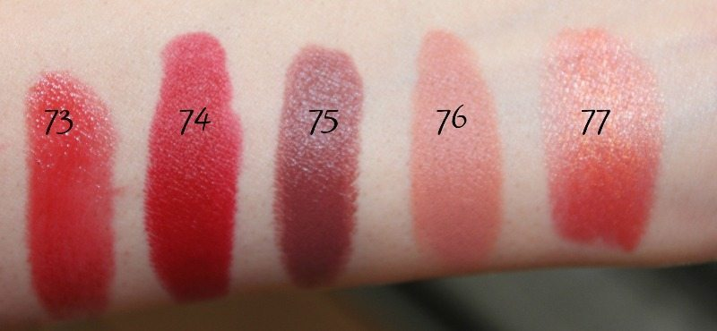 MAC Lipstick Swatches 20