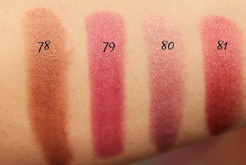 MAC Lipstick Swatches 21