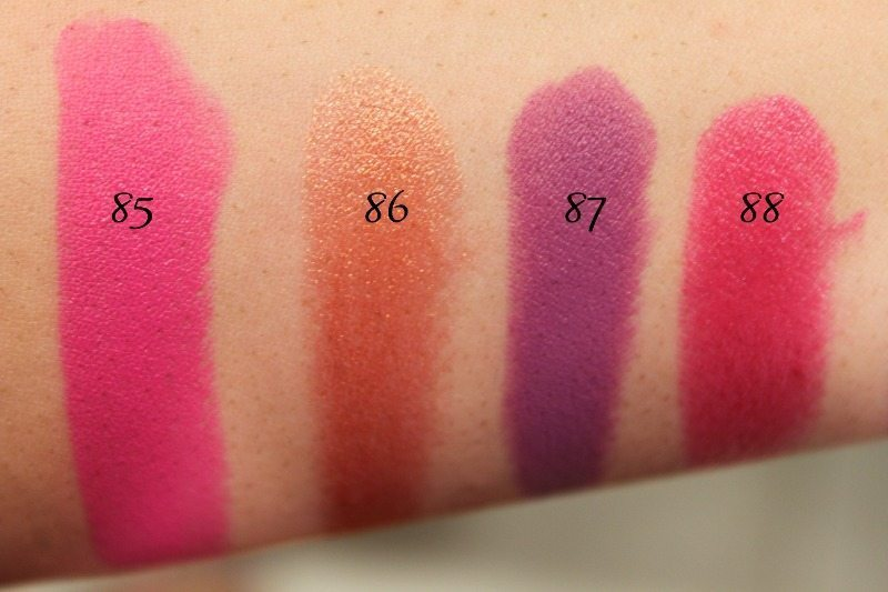 MAC Lipstick Swatches 23
