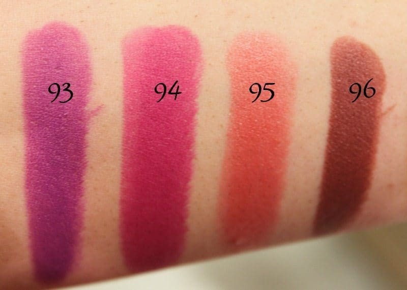 MAC Lipstick Swatches 25