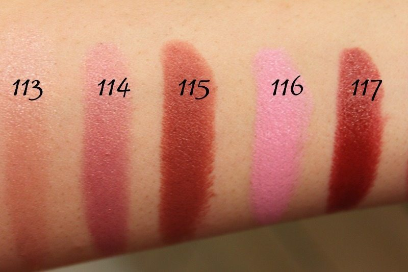 MAC Lipstick Swatches 31
