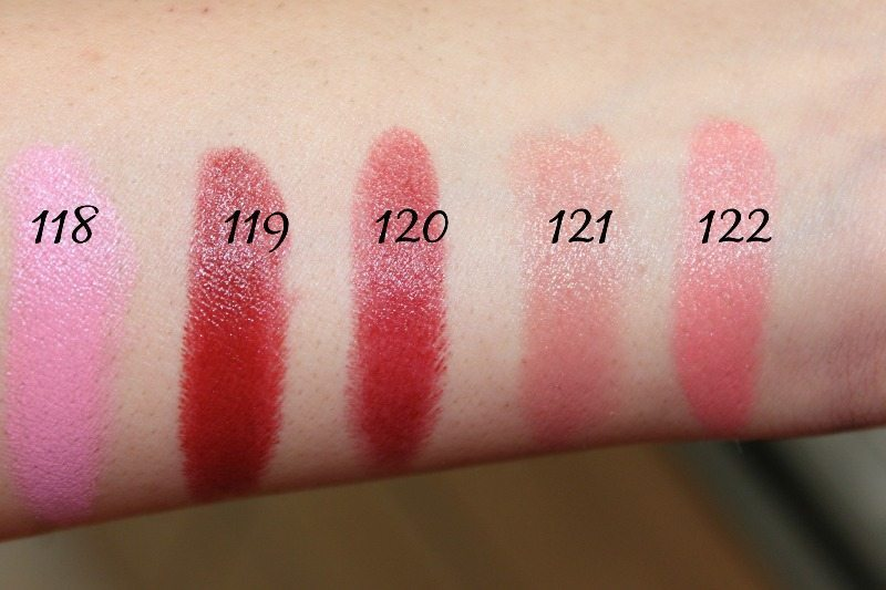 MAC Lipstick Swatches 32