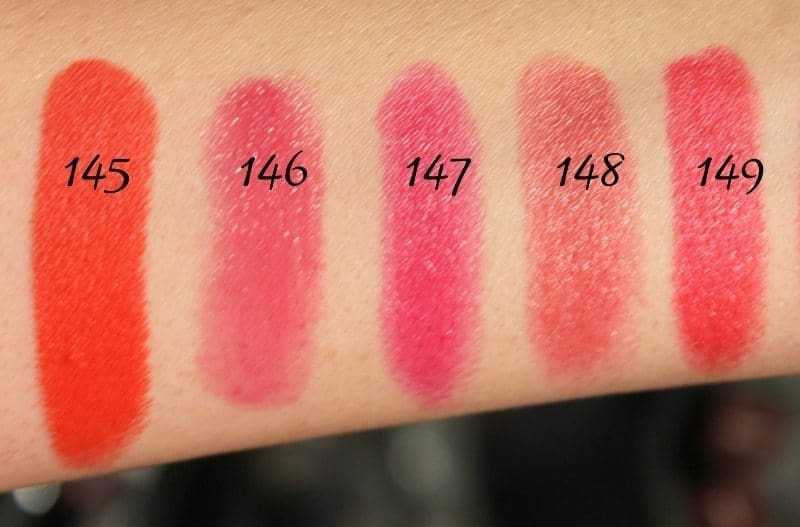 MAC Lipstick Swatches 38