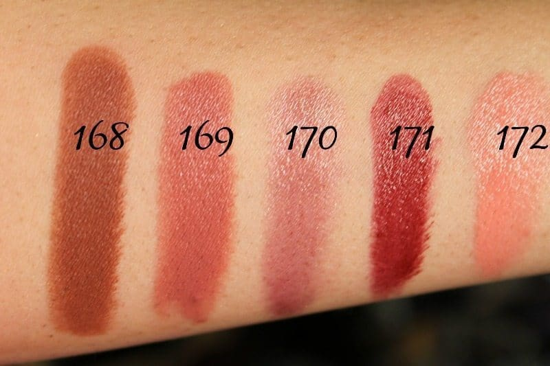 MAC Lipstick Swatches 45