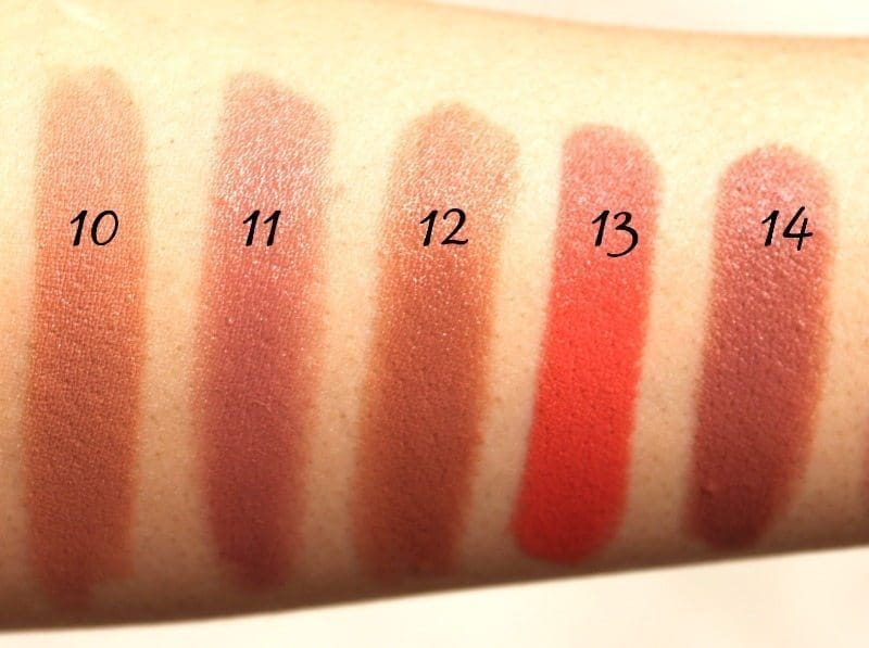 MAC Lipstick Swatches 5