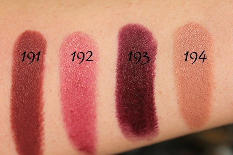 MAC Lipstick Swatches 51