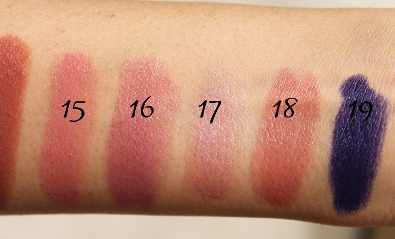 MAC Lipstick Swatches 6