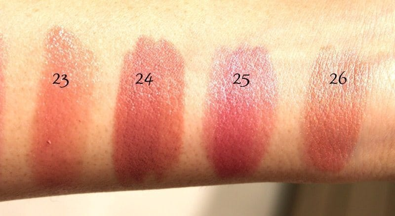 MAC Lipstick Swatches 9