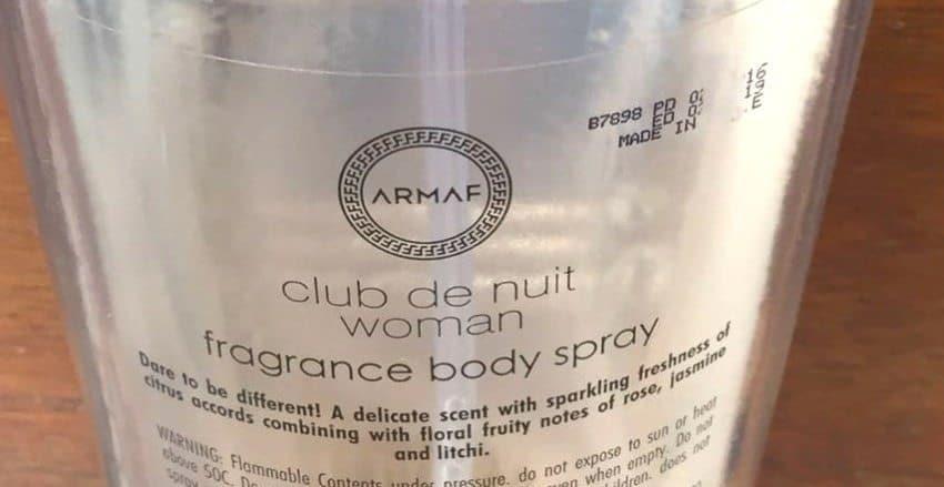 Armaf Club De Nuit (Woman) Fragrance Body Spray Review 2