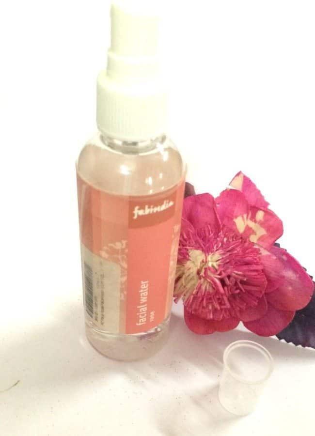Fabindia facial water rose review