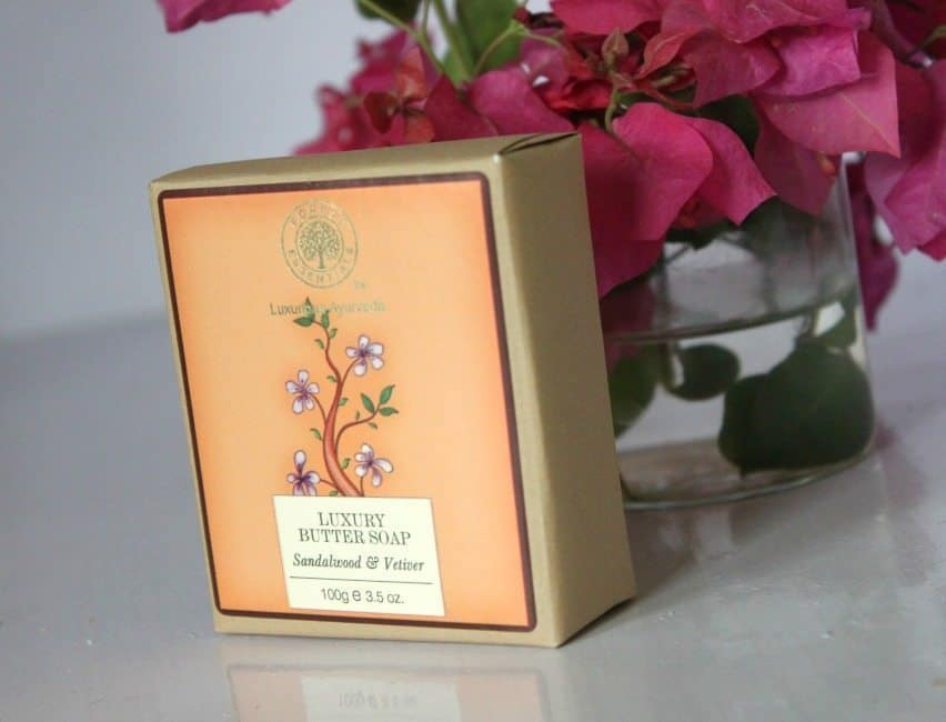 Forest Essentials Luxury Butter Soap Sandalwood & Vetiver Review 1