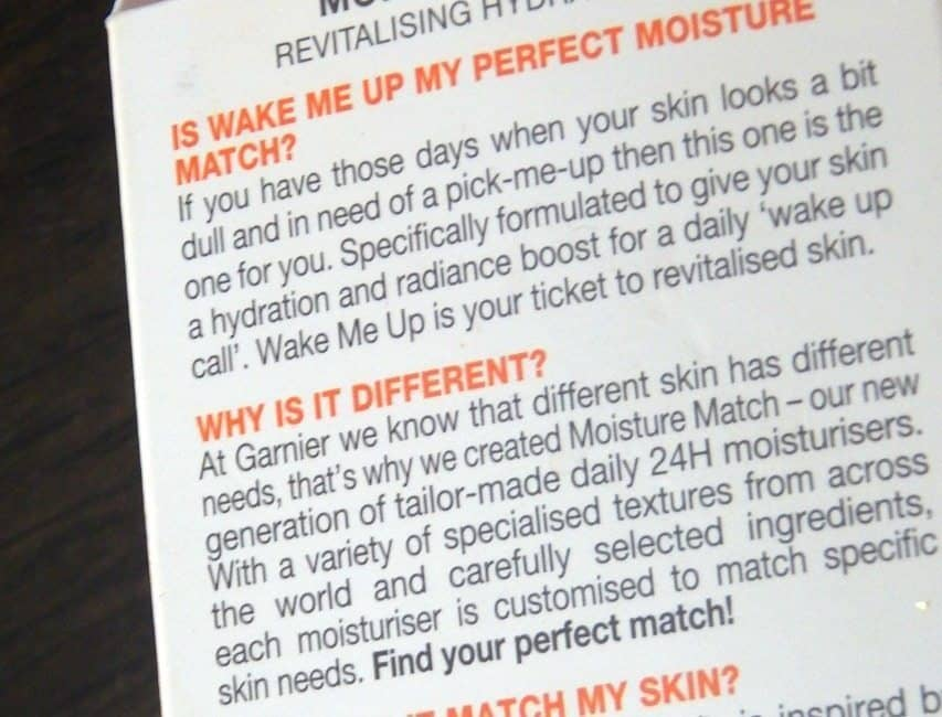 Garnier Skin Naturals Moisture Match Wake Me up Revitalizing Hydrating Gel Review 3