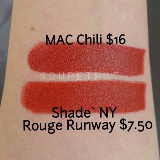 mac chili dupes getting hotter day by day