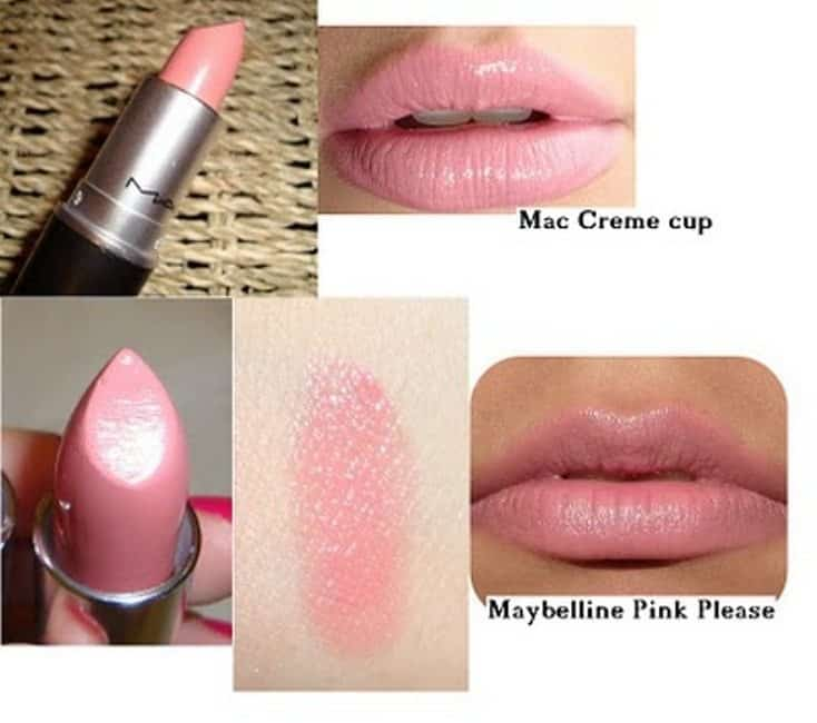 Mac Creme Cup Lipstick Dupes Sheer Pink Heaven