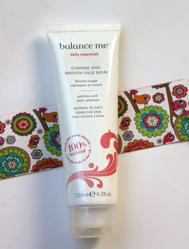 balance me cleanse and smooth face balm review