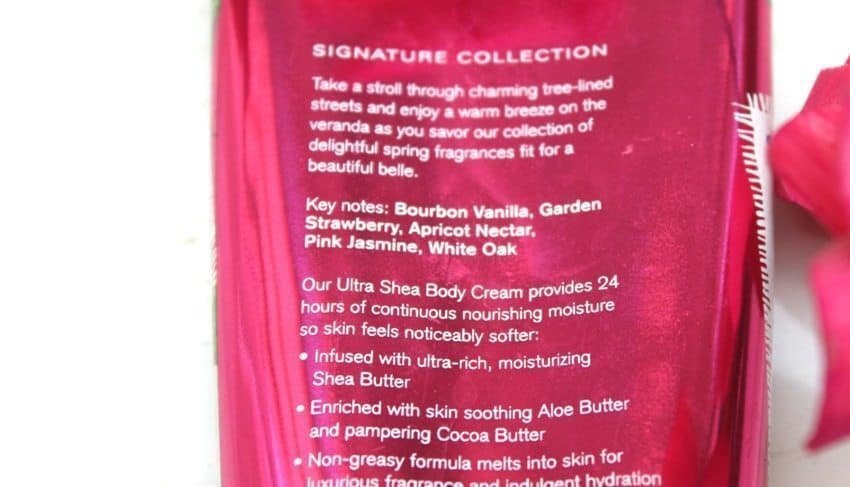 Bath and Body Works Bourbon Strawberry and Vanilla ultra Shea Body Cream Review
