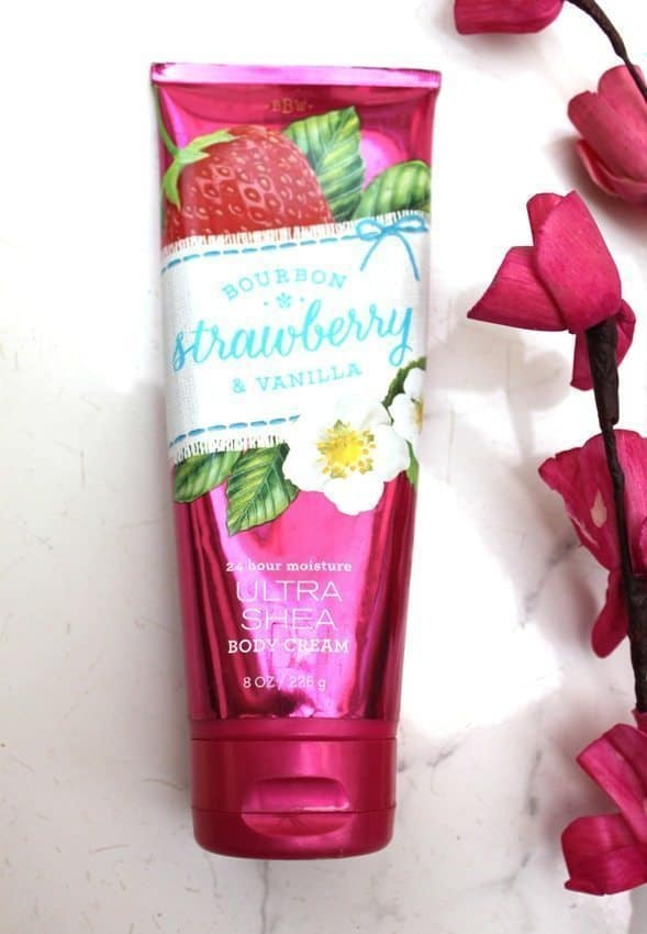 Bath and Body Works Bourbon Strawberry and Vanilla ultra Shea Body Cream Review 4