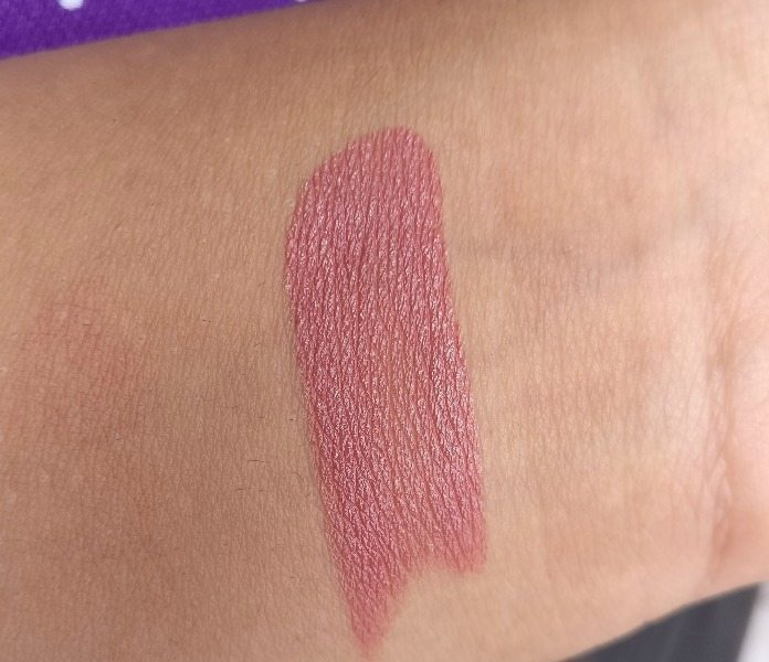 Colorbar Velvet Matte Lipstick Bare 58 Review 3