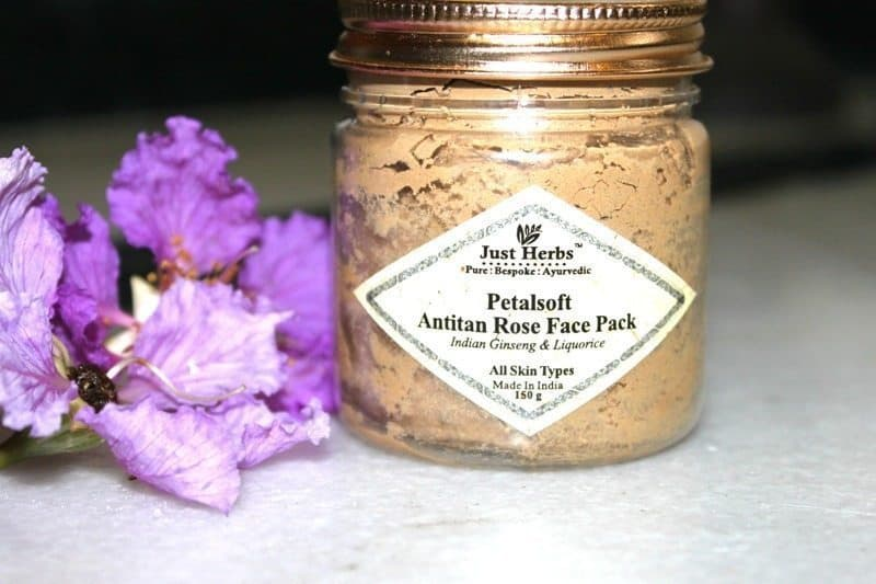 Just Herbs Petalsoft Anti-Tan Rose Face Pack Review