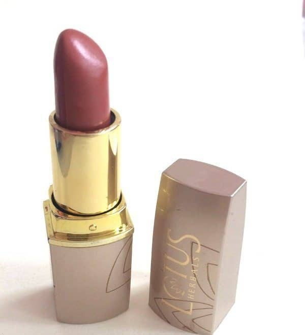 Lotus Herbal Pure Color Lipstick My Peach Review