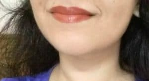 Lotus Herbal Pure Color Lipstick My Peach Review 4