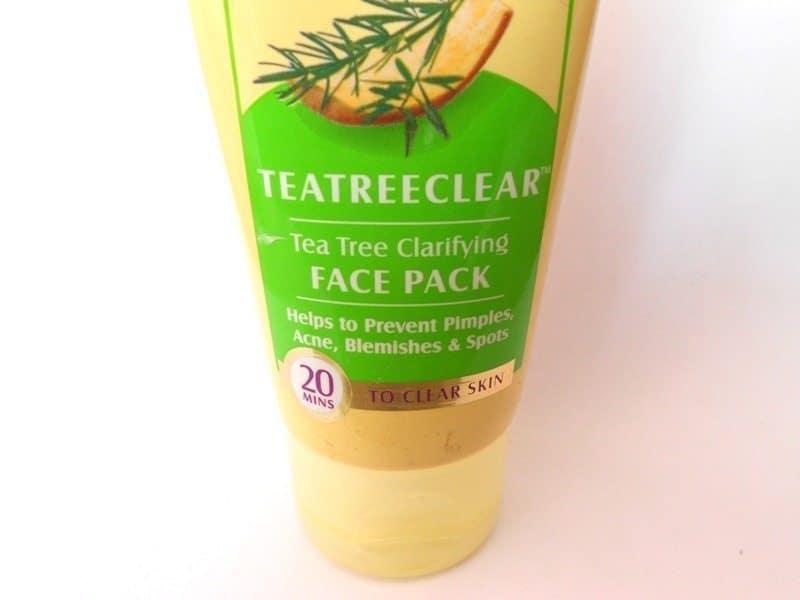 Lotus Herbals Teatreeclear Tea Tree Clarifying Face Pack Review