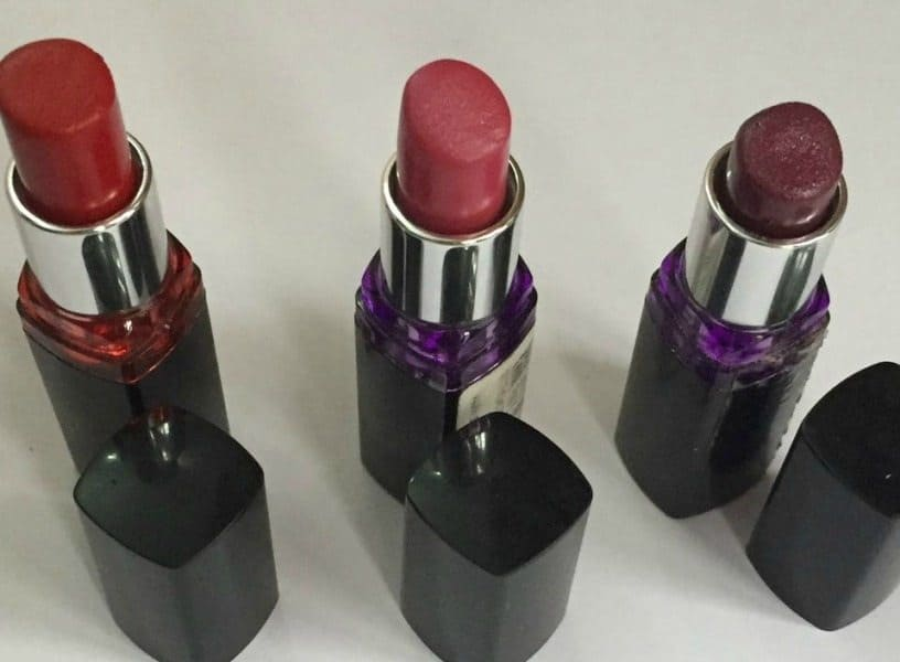 Maybelline Color Show Lipsticks Red Rush, Plum Tastic And Violet Vibe Review And Swatches