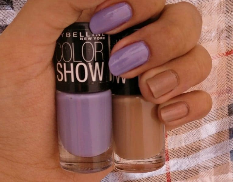 Maybelline Colorshow Nail Polish Blazing Blue, Sweet Sunshine ...