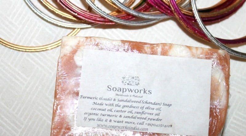 Soapworks India Turmeric and Sandalwood Soap (Haldi and Chandan) Review 2