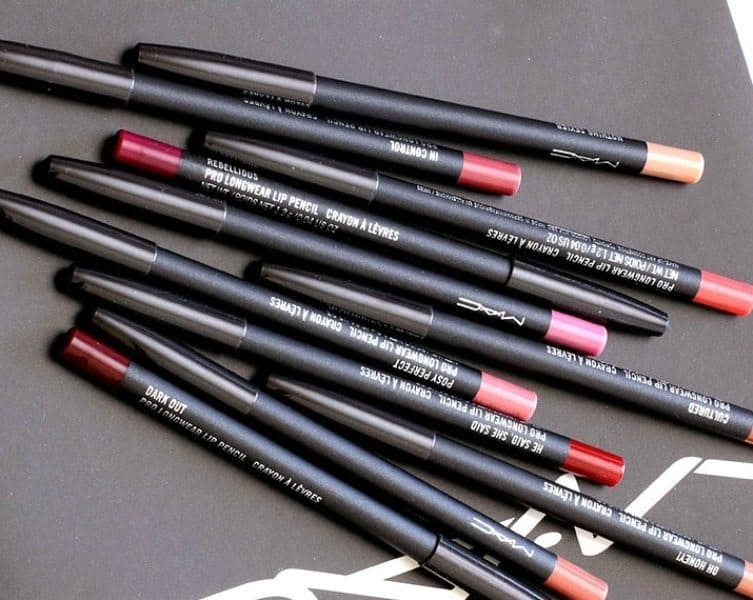 44 MAC Lip Pencils Swatches 2