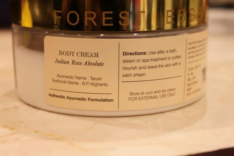 Forest Essentials Velvet Silk Body Cream Indian Rose Absolute Review 1