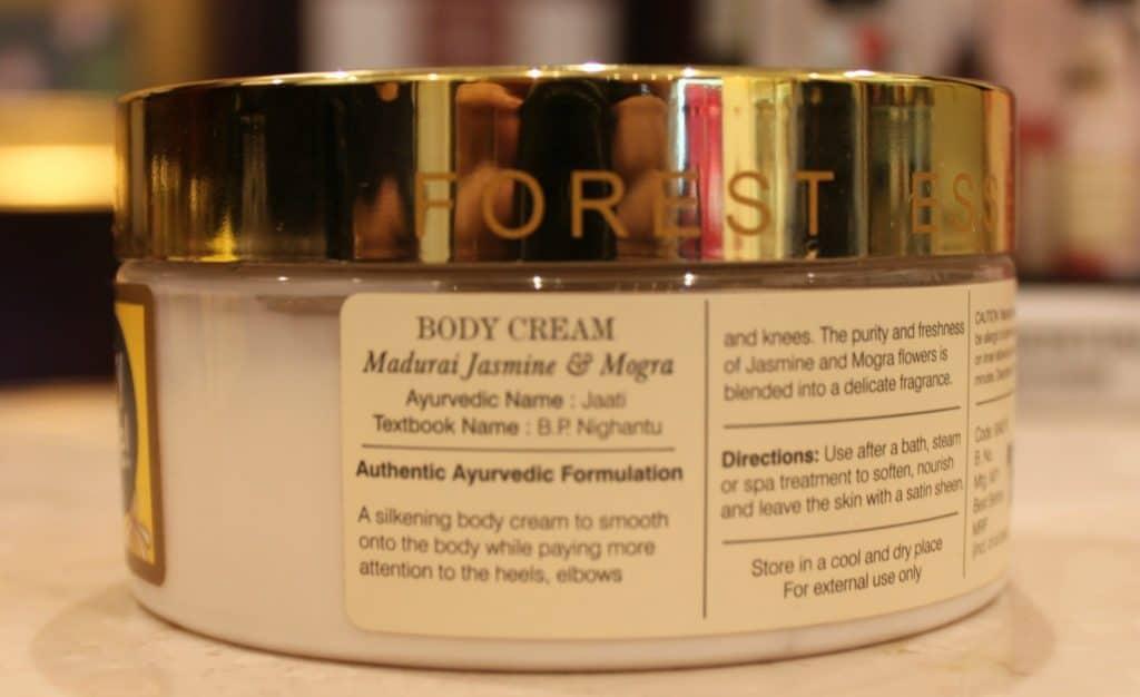 Forest Essentials Velvet Silk Body Cream Madurai Jasmine & Mogra Review 1
