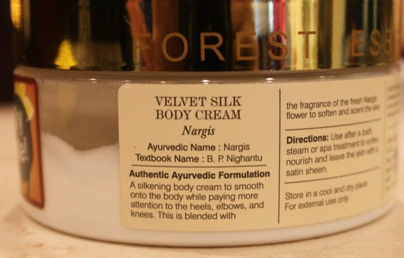 Forest Essentials Velvet Silk Body Cream Nargis Review 1