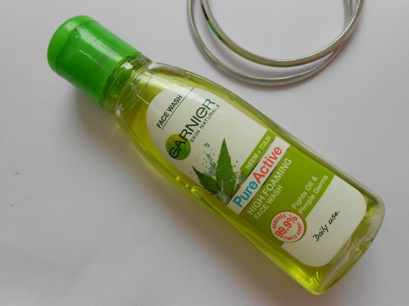 Garnier Skin Naturals Pure Active High Foaming Face Wash Review