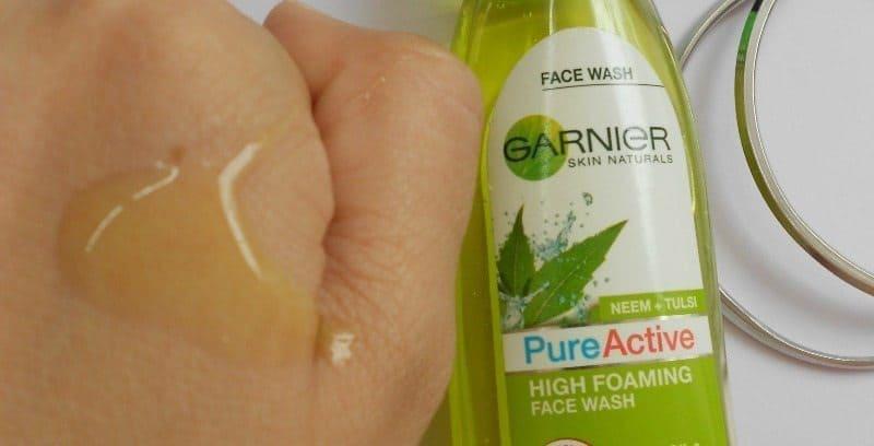 Garnier Skin Naturals Pure Active High Foaming Face Wash Review 4