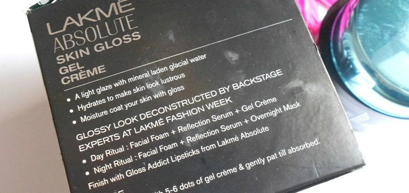 Lakme Absolute Skin Gloss Gel Crème Review 1